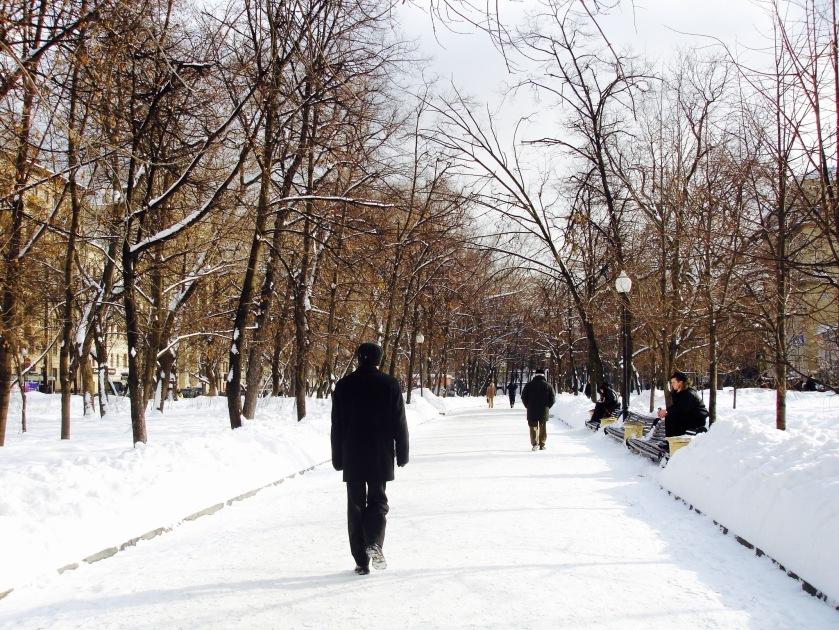 moskova kar yol kış